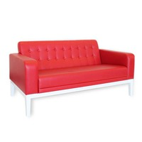 Sofa red eco leather
